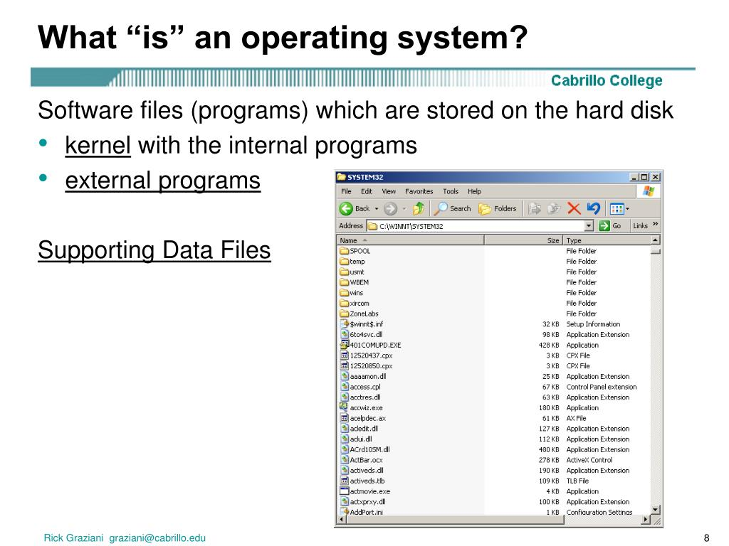 """What """"is"""" an operating system?"""