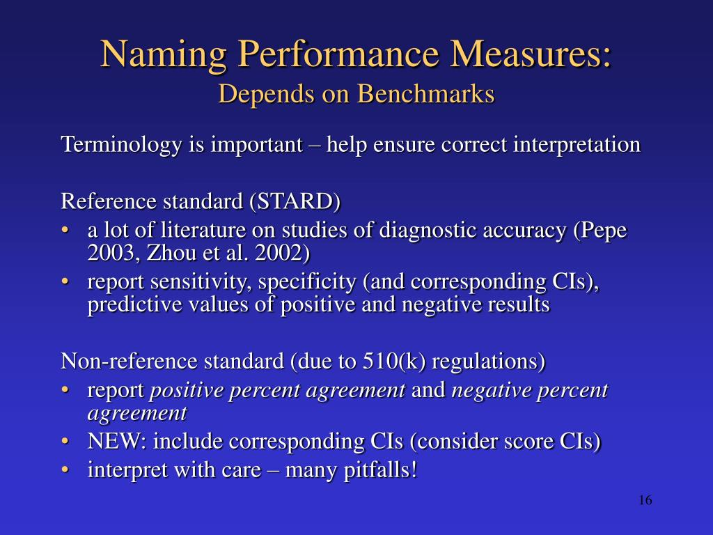 Naming Performance Measures: