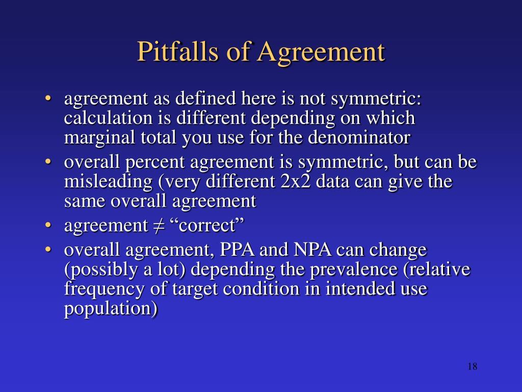 Pitfalls of Agreement