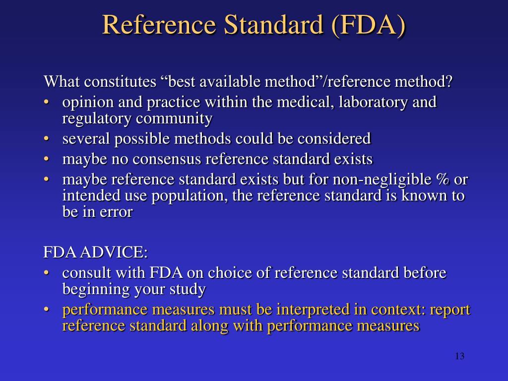 Reference Standard (FDA)