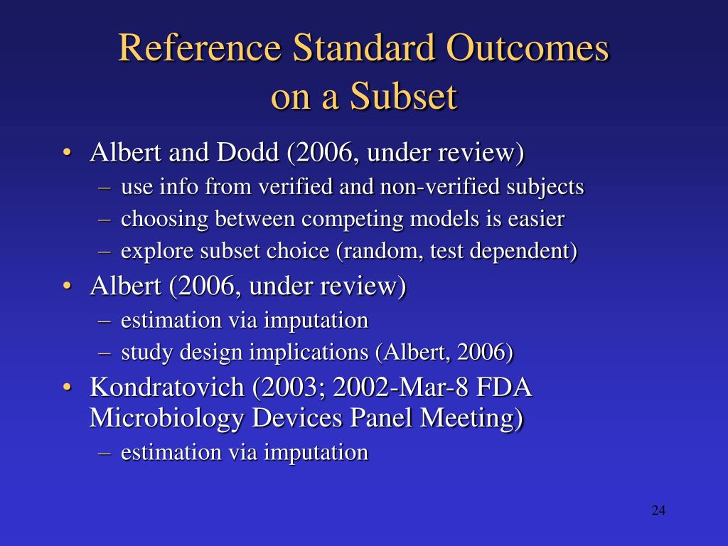 Reference Standard Outcomes