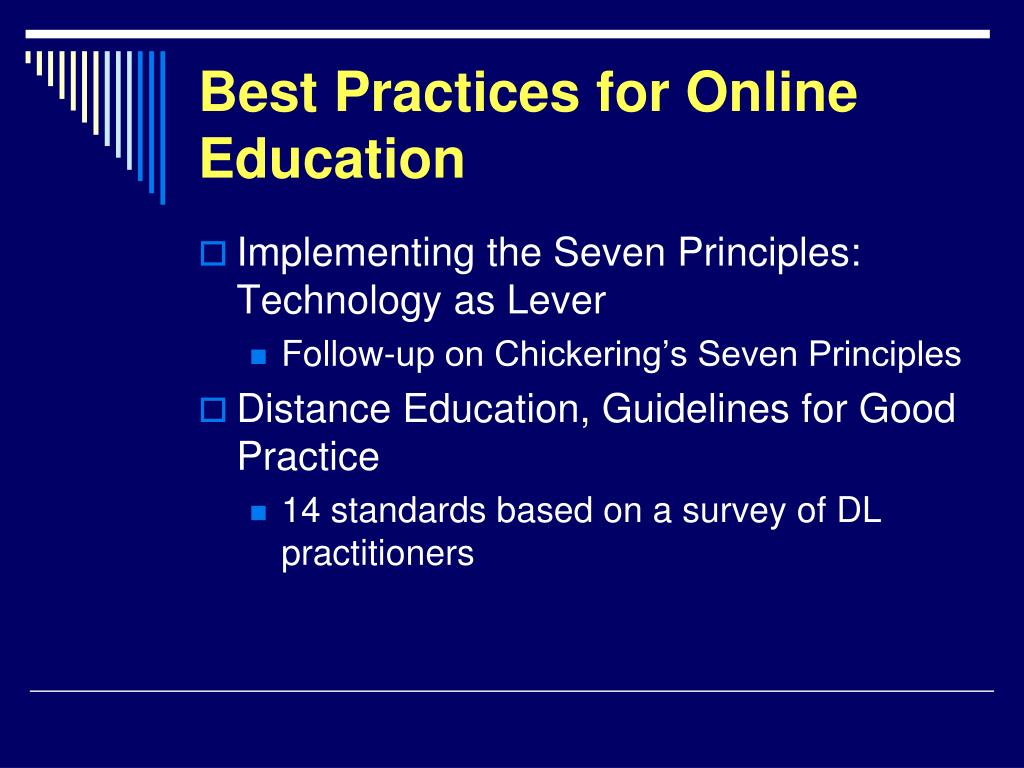 Best Practices for Online Education