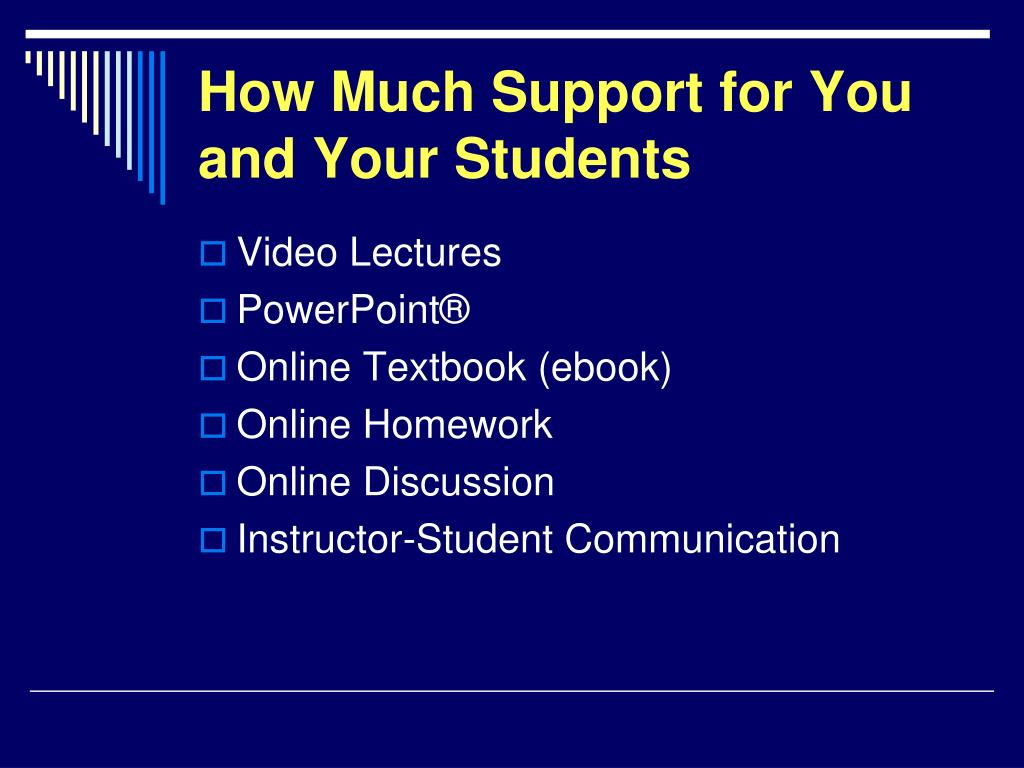 How Much Support for You and Your Students