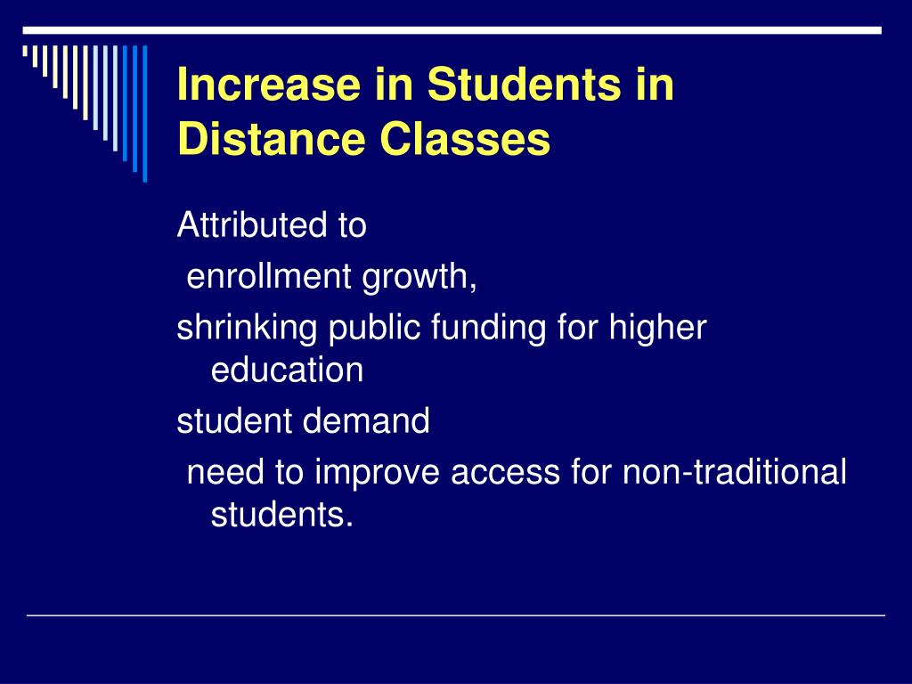 Increase in Students in Distance Classes