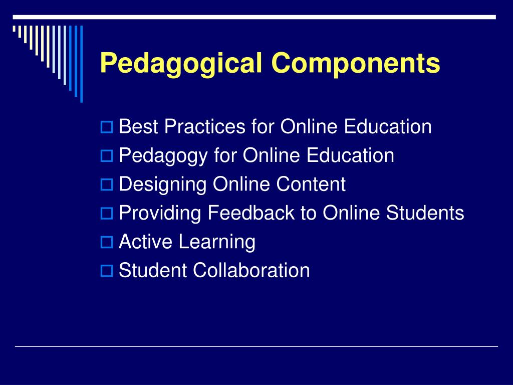 Pedagogical Components