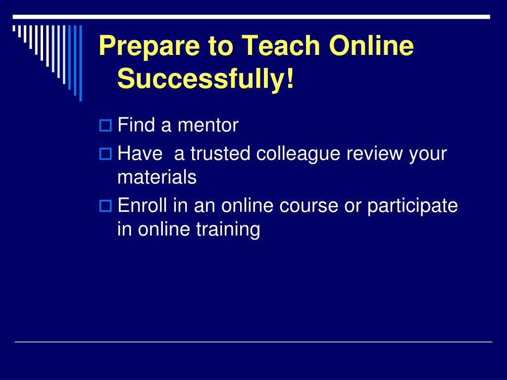 Prepare to Teach Online Successfully!