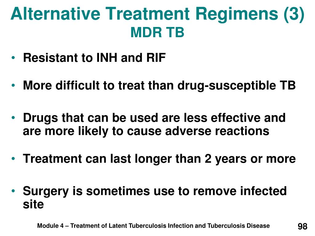 Alternative Treatment Regimens (3)