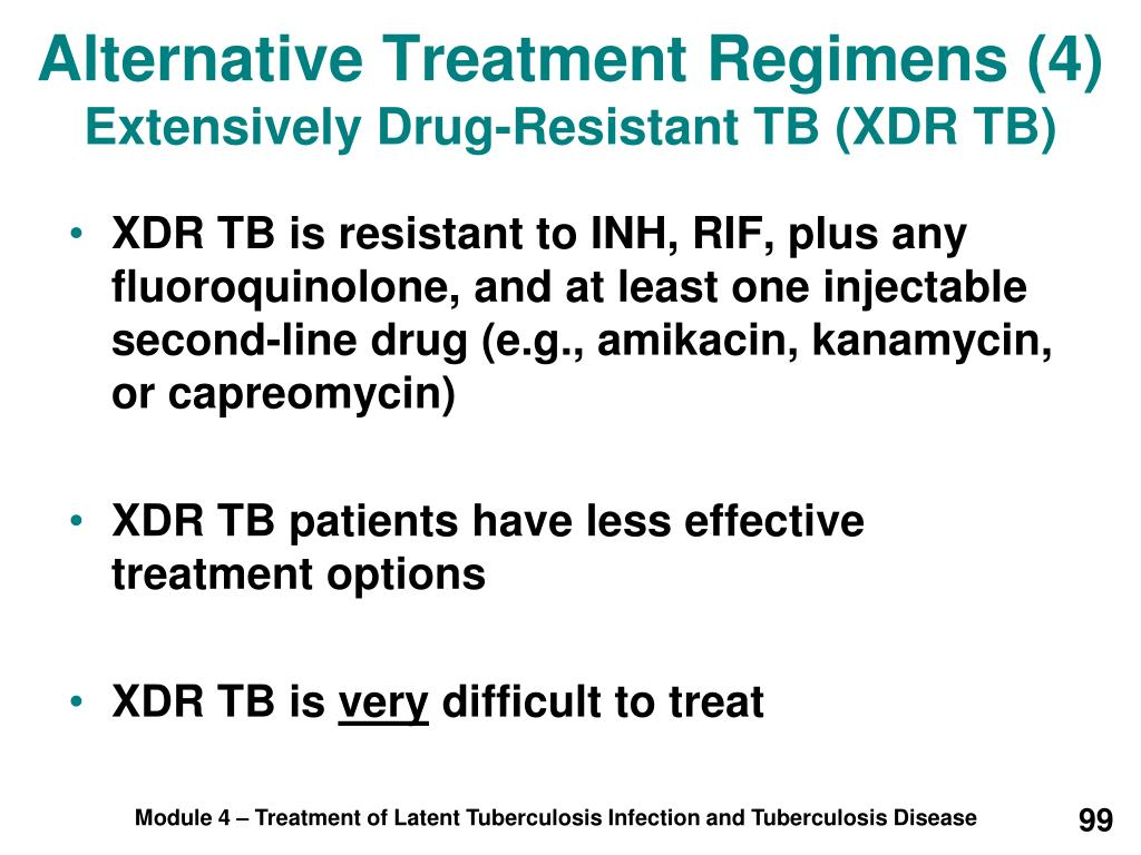 Alternative Treatment Regimens (4)