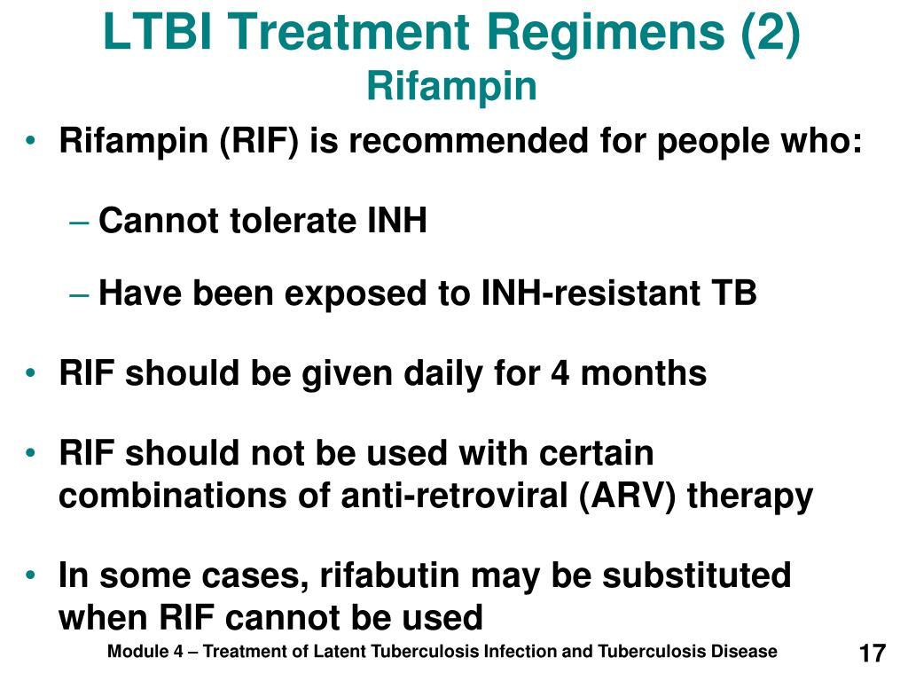 LTBI Treatment Regimens (2)