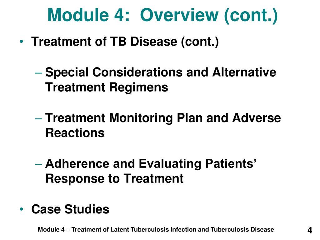 Module 4:  Overview (cont.)