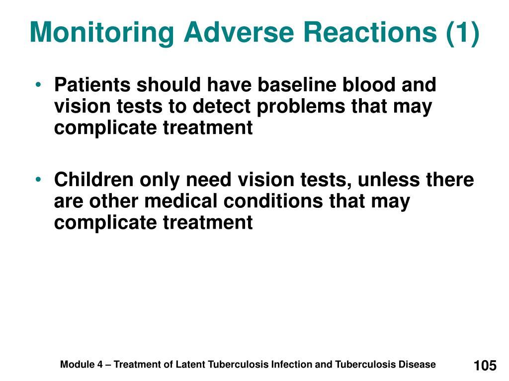 Monitoring Adverse Reactions (1)