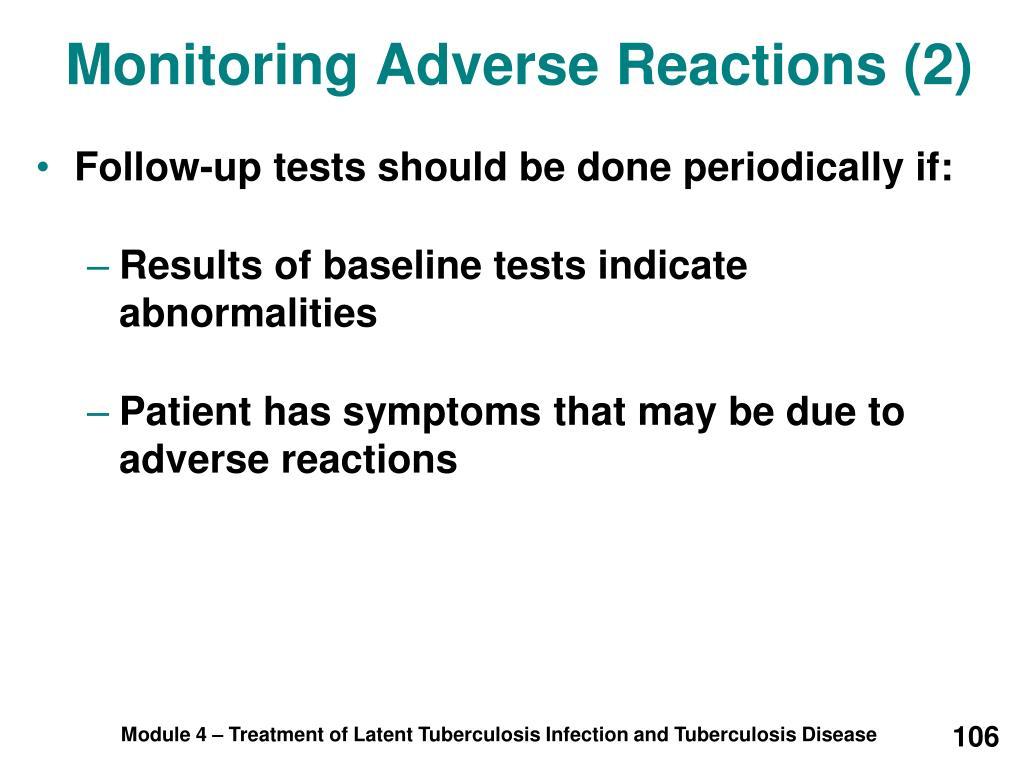 Monitoring Adverse Reactions (2)