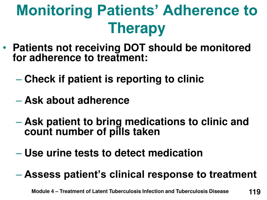 Monitoring Patients' Adherence to Therapy