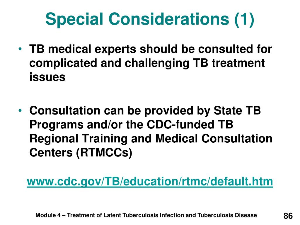 Special Considerations (1)