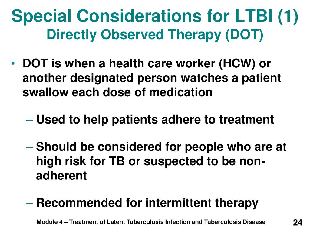 Special Considerations for LTBI (1)