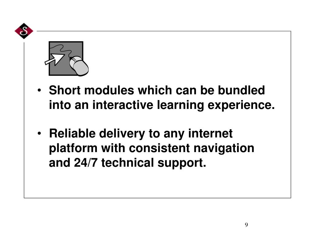 Short modules which can be bundled into an interactive learning experience.