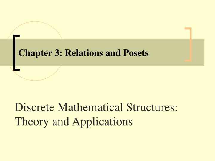 Chapter 3 relations and posets
