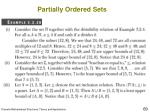 partially ordered sets22