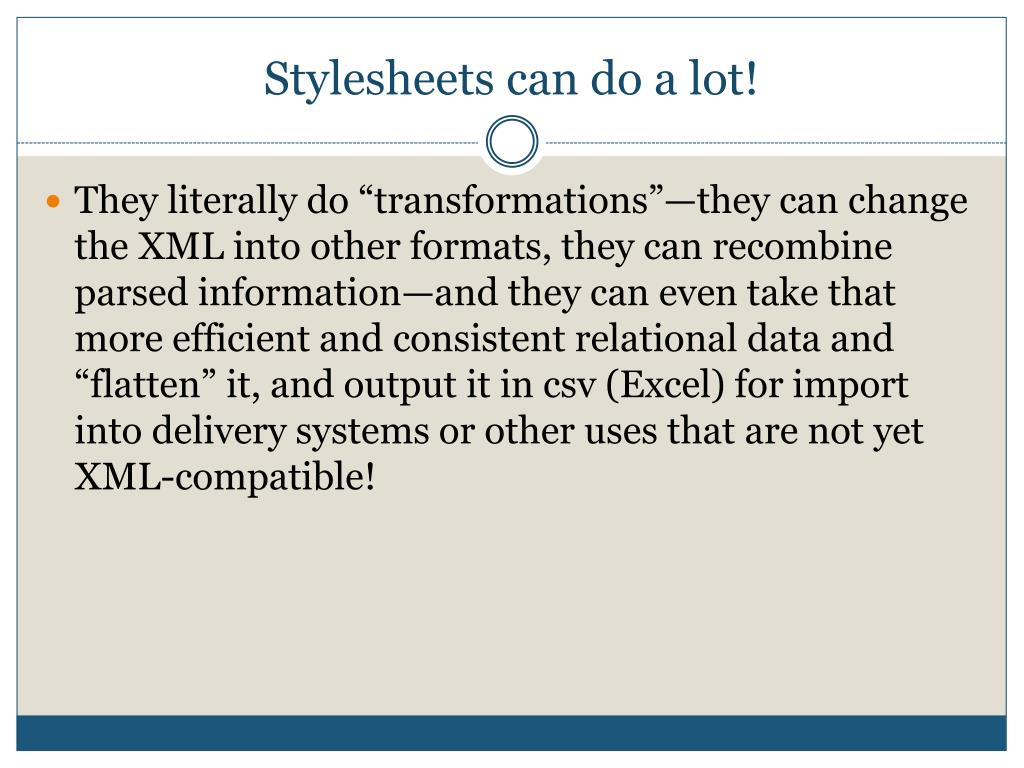 Stylesheets can do a lot!