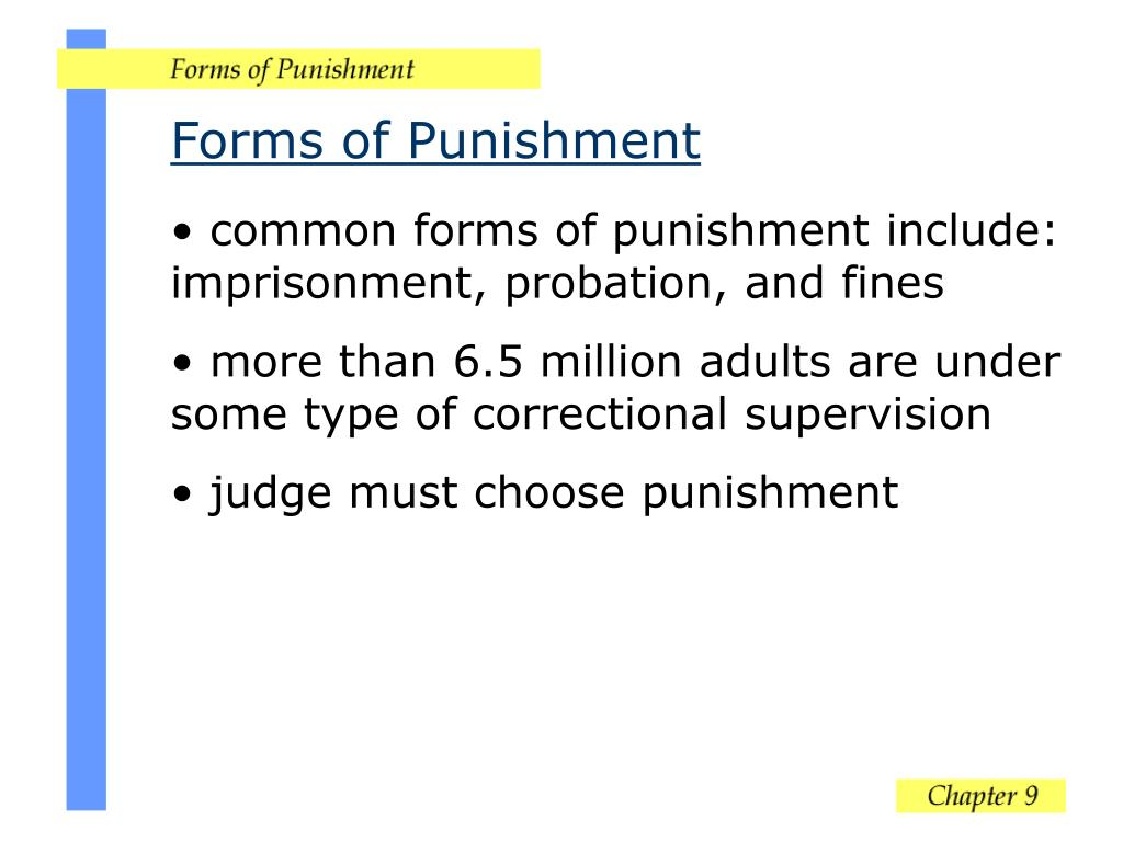 Forms of Punishment