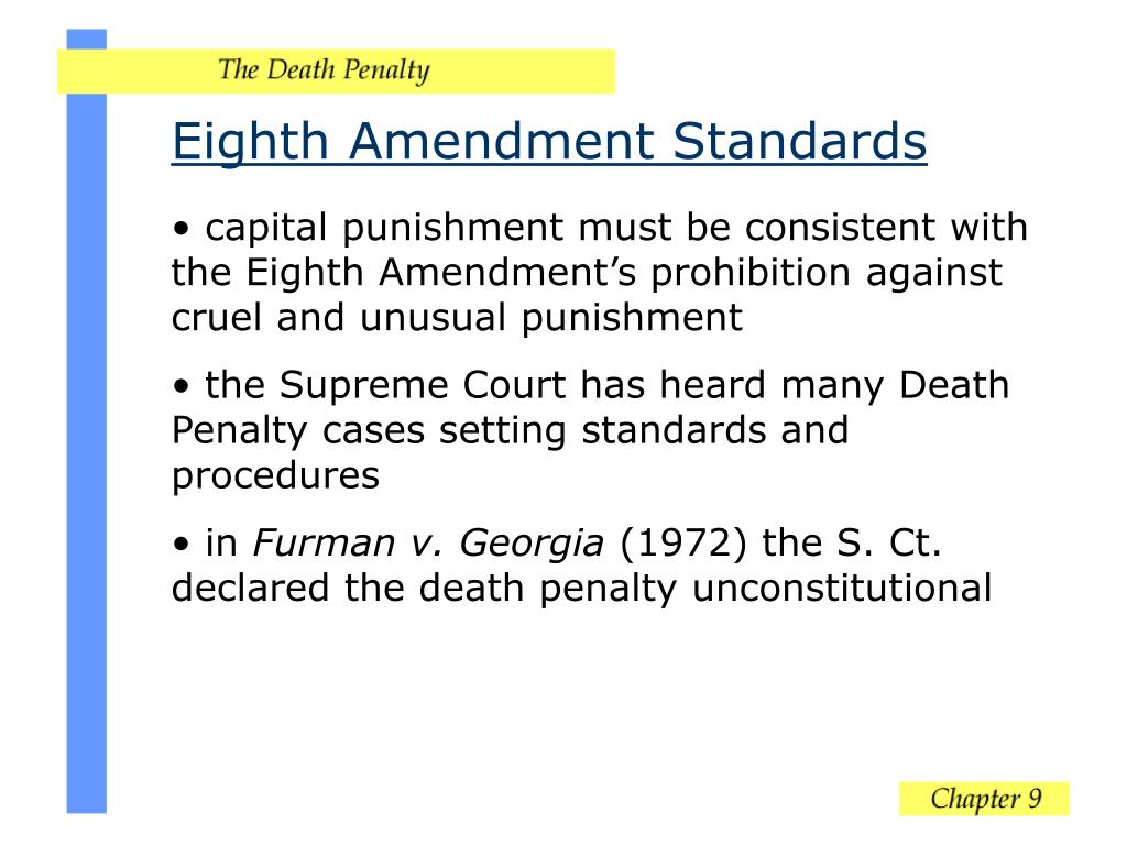 Eighth Amendment Standards