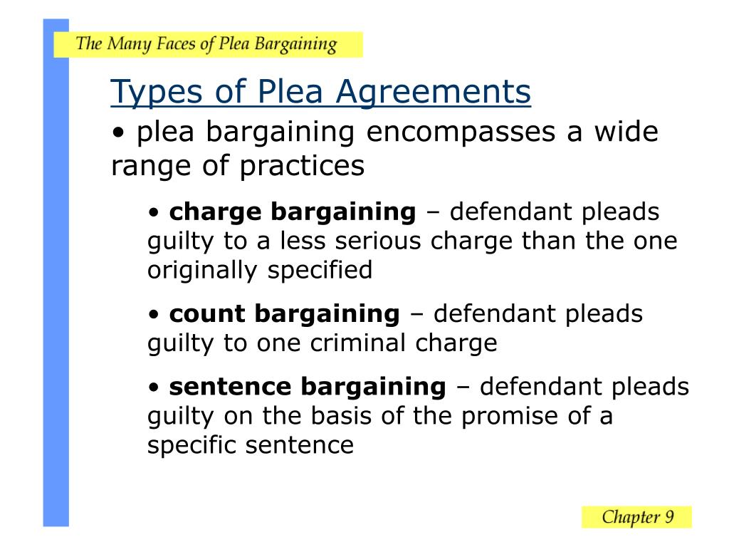Types of Plea Agreements