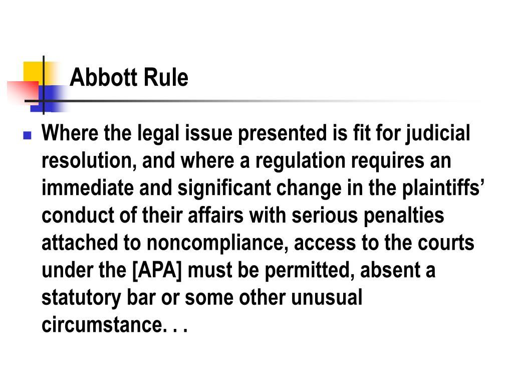 Abbott Rule