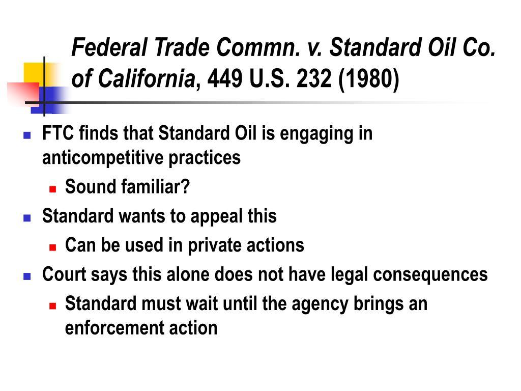 Federal Trade Commn. v. Standard Oil Co. of California