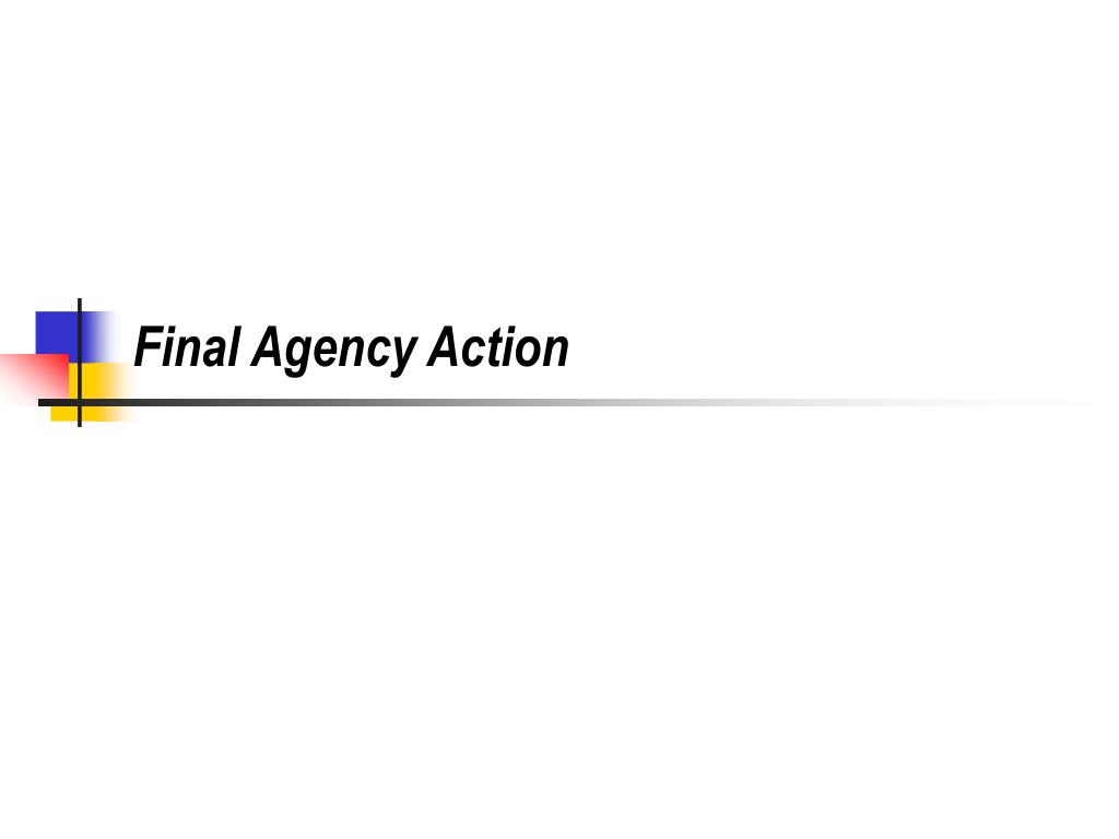 Final Agency Action