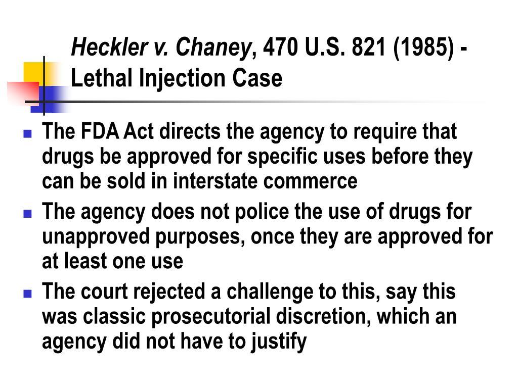 Heckler v. Chaney