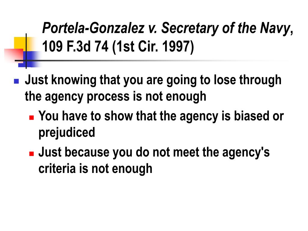 Portela-Gonzalez v. Secretary of the Navy