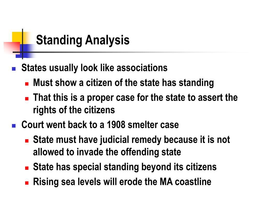 Standing Analysis