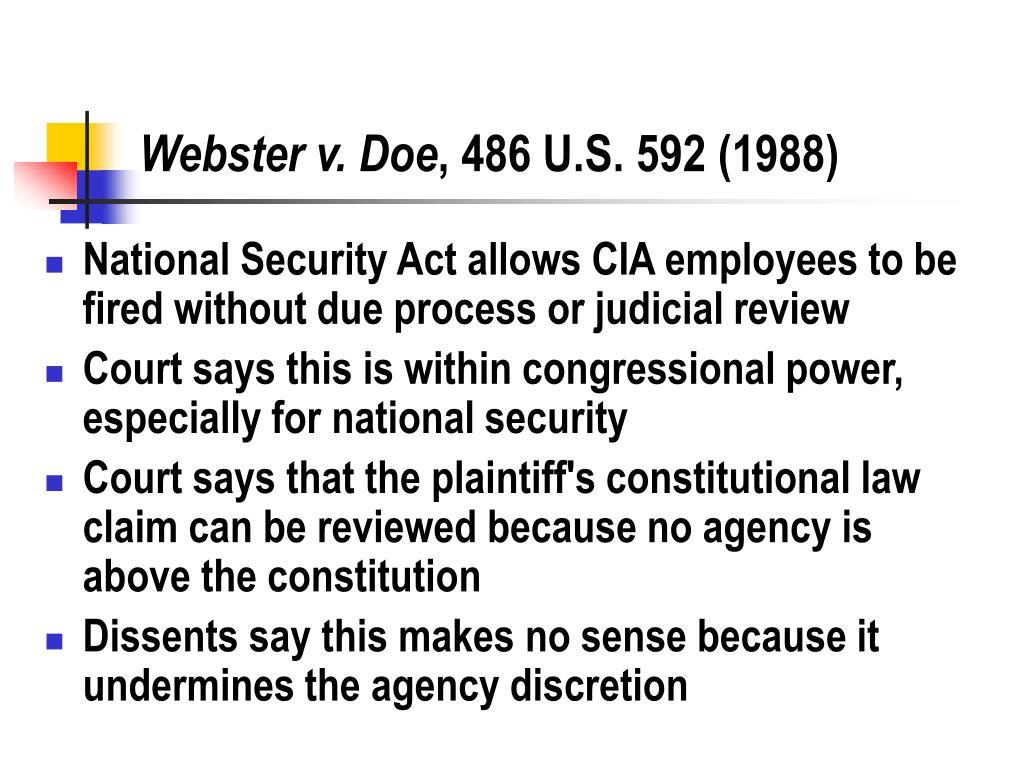 Webster v. Doe