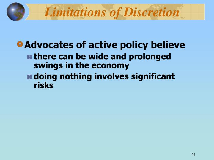Limitations of Discretion