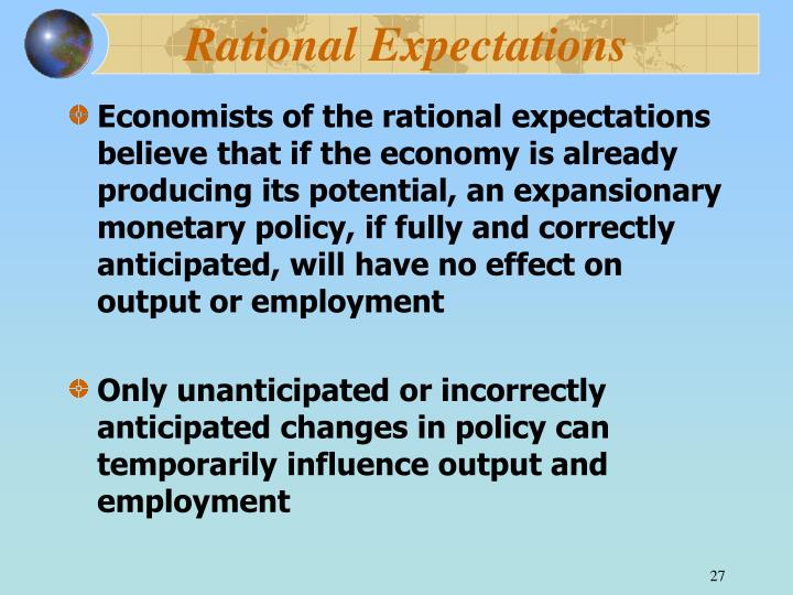 Rational Expectations
