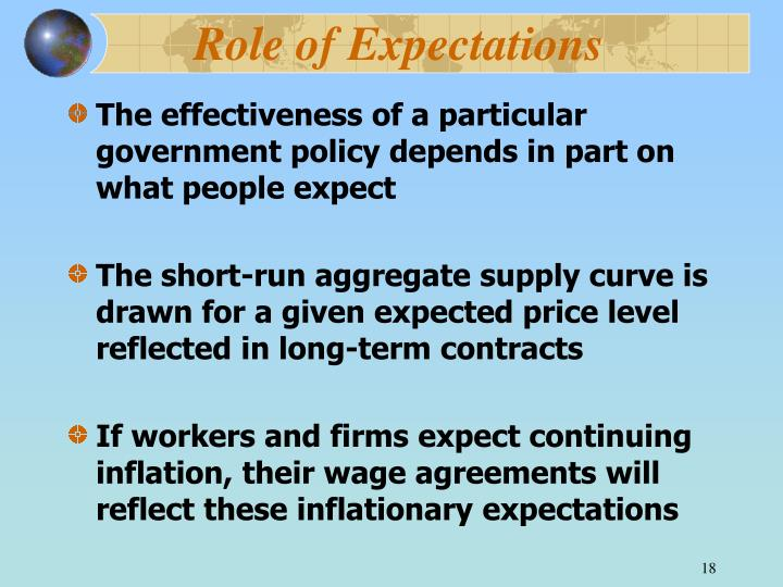 Role of Expectations