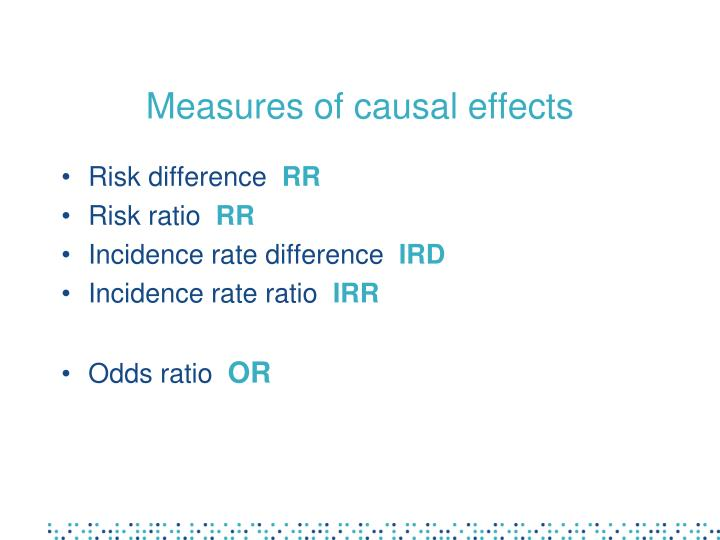 Measures of causal effects