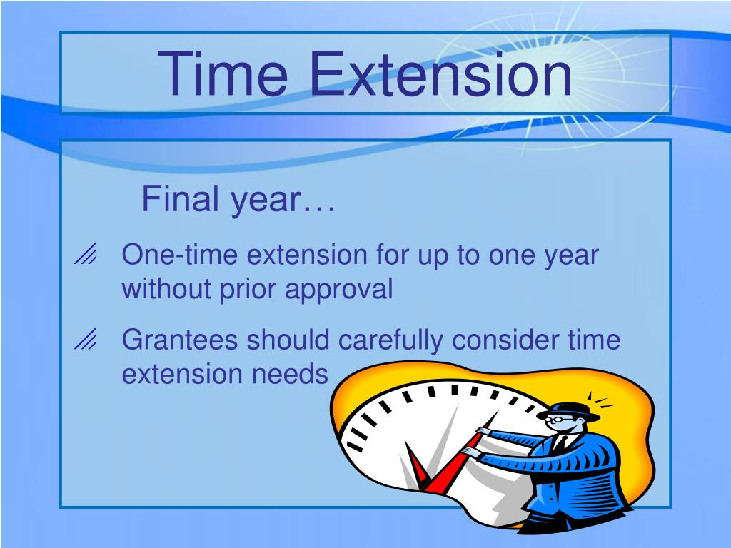 Time Extension