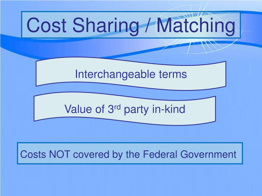 Cost Sharing / Matching