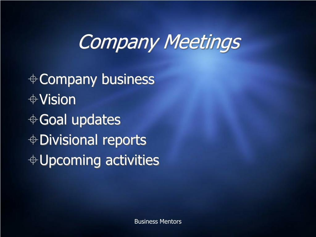 Company Meetings
