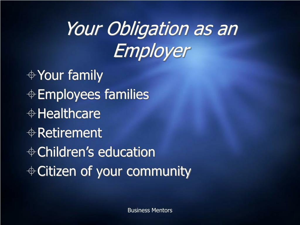 Your Obligation as an Employer