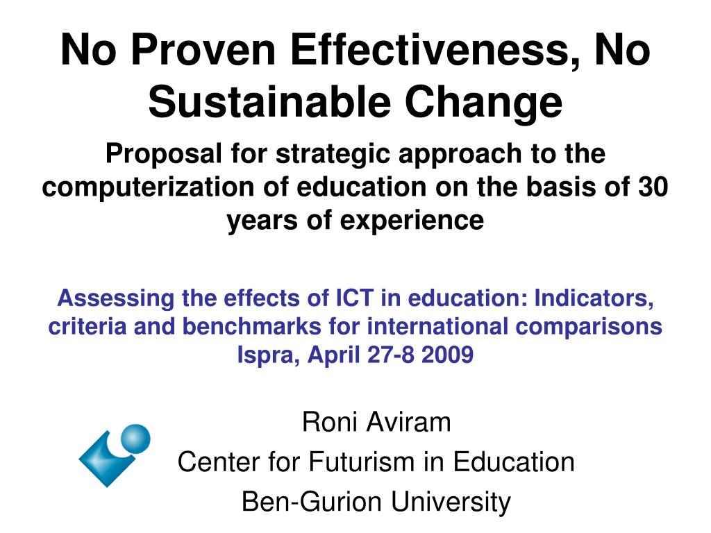 No Proven Effectiveness, No Sustainable Change