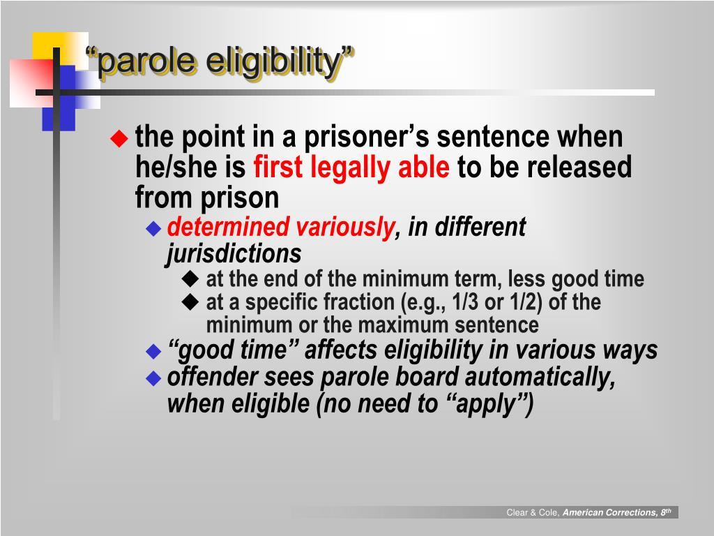 """""""parole eligibility"""""""