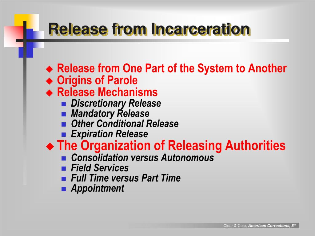 Release from Incarceration