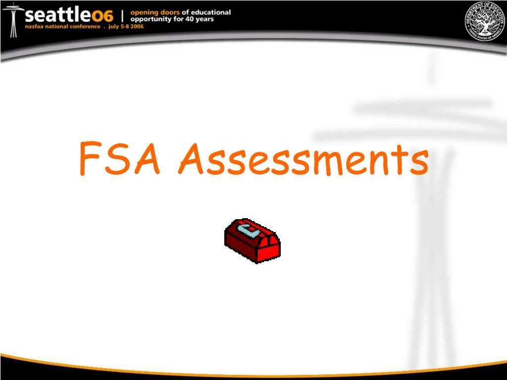 FSA Assessments