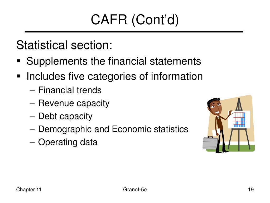 CAFR (Cont'd)