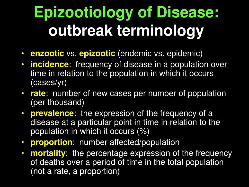 Epizootiology of Disease: