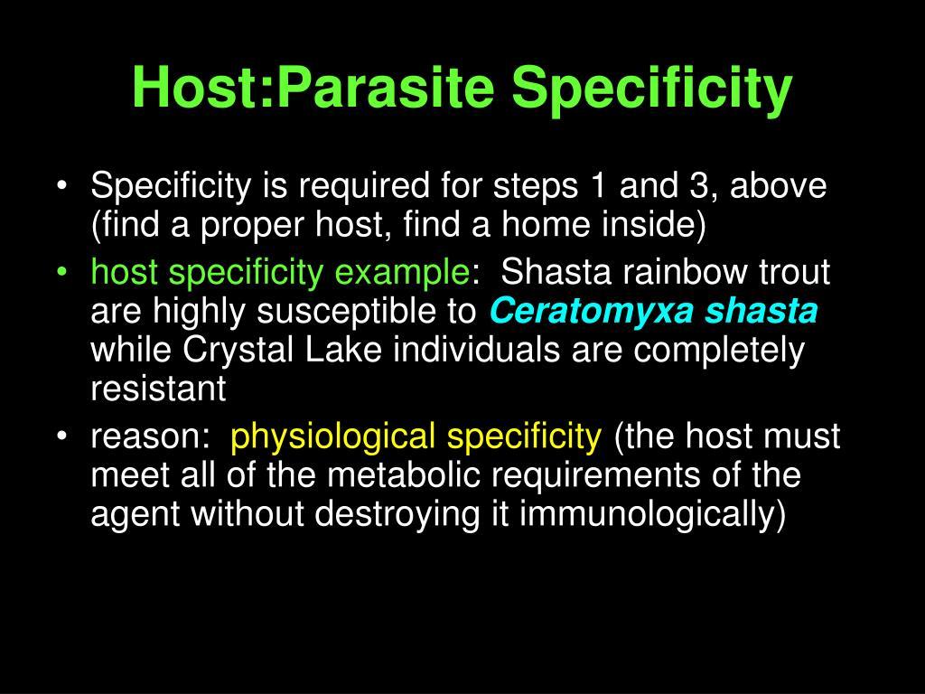 Host:Parasite Specificity