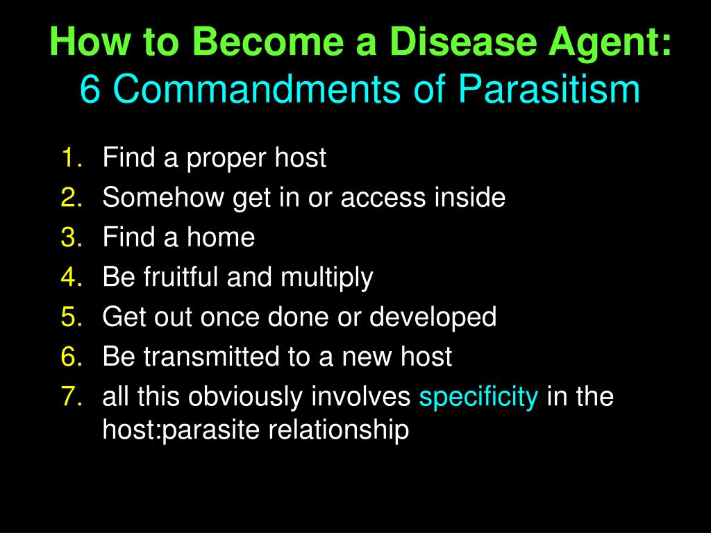 How to Become a Disease Agent: