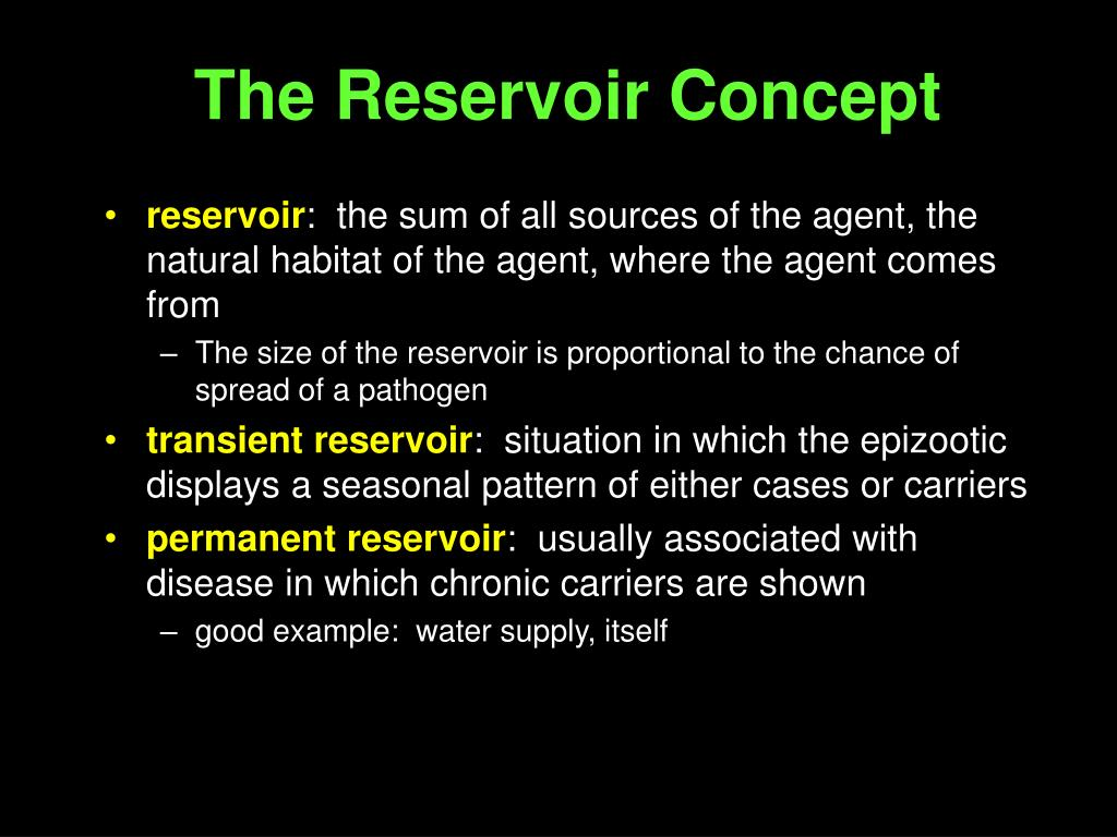 The Reservoir Concept